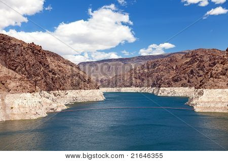 Decreased Water Level In Black Canyon Of Colorado River