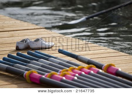 Leaving Stage For Rowing Race