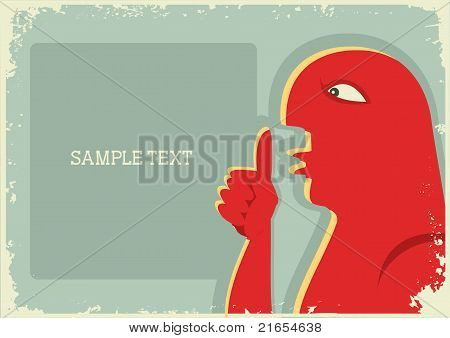 Man Showing Silence With His Forefinger Bu Mouth