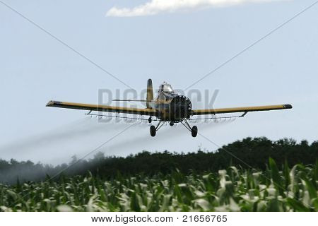 Plane spraying pesticides
