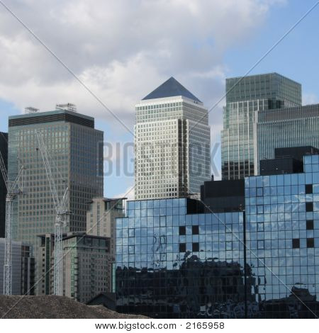 Skyline Of London Docklands