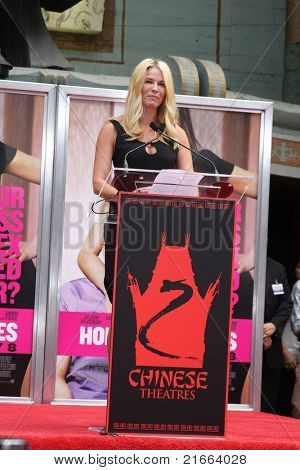 LOS ANGELES - JUL 7: Chelsea Handler at a ceremony where Jennifer Aniston is honored with hand and foot prints at Grauman's Chinese Theater in Los Angeles, California on July 7, 2011