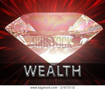 Luxury retirement wealth savings investment concept background diamond illustration