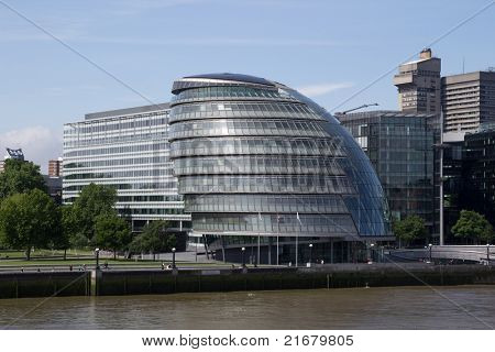 LONDON - MAY 30: The London City Hall Building on May 30, 2011 in London. The building is considered a green building because solar panels were installed on City Hall's roof in August 2007.