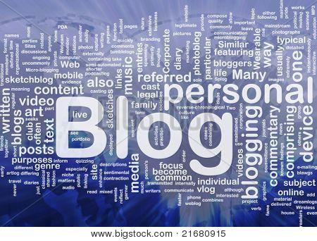 Background concept illustration of internet web blog international