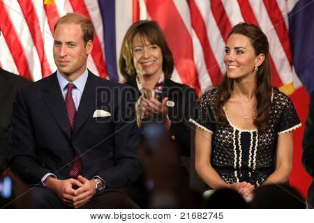 LOS ANGELES - JULY 10:  Prince William, and Catherine,  The Duke And Duchess Of Cambridge attend The Mission Serve