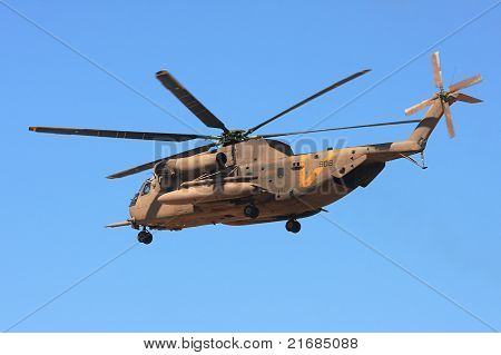 Sikorsky Ch-53 Helicopter In The Air.