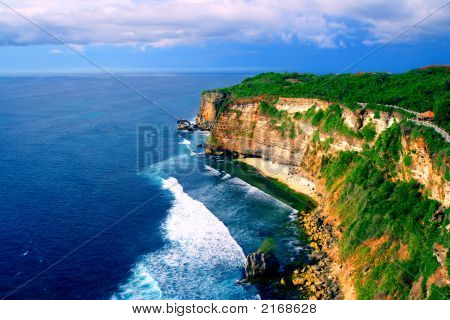 Great View Of Uluwatu Bali Beach