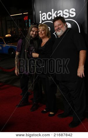 LOS ANGELES - APR 10: Bam Margera, April Margera, Phil Margera at the Jackass 3D premiere held at Grauman's Chinese Theater in Los Angeles, California on April 10, 2010