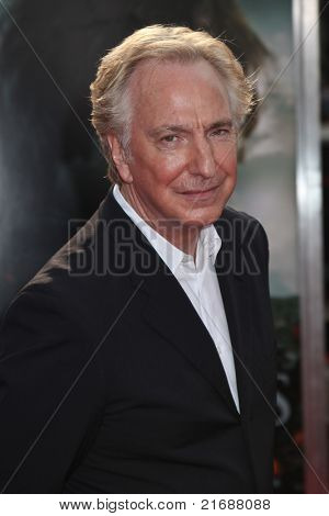 NEW YORK, NY - JULY 11:  Alan Rickman arrives for the North American premiere of Harry Potter and the Deathly Hallows Part 2July 11, 2011 at Lincoln Center in New York.