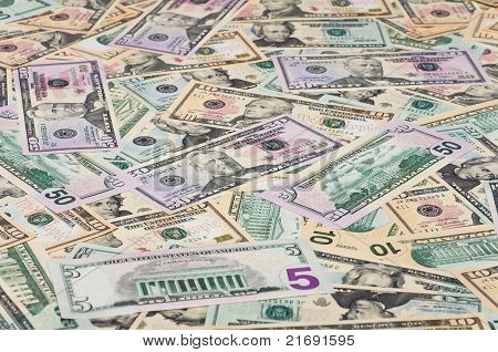 The background of U.S. dollars.