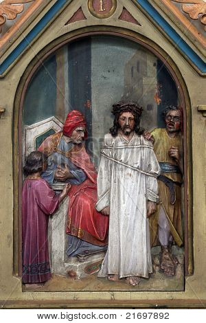 Jesus is condemned to death