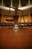 image of courtroom  - Symbol of law and justice in the empty courtroom law and justice concept - JPG