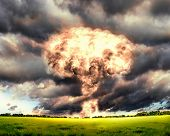 picture of nuke  - Nuclear explosion in an outdoor setting - JPG