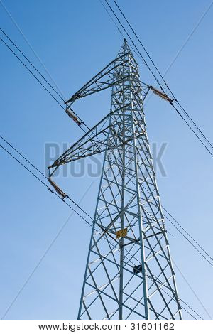 elettric pylons truss in a sky