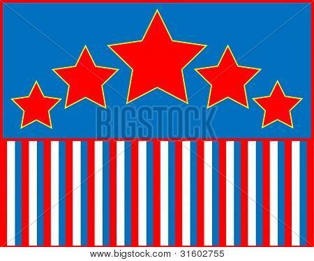 Red White Blue Stripes Background Eps8 Vector Red White Blue
