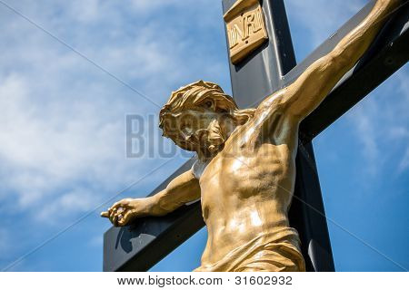 Jesus On A Crucifix