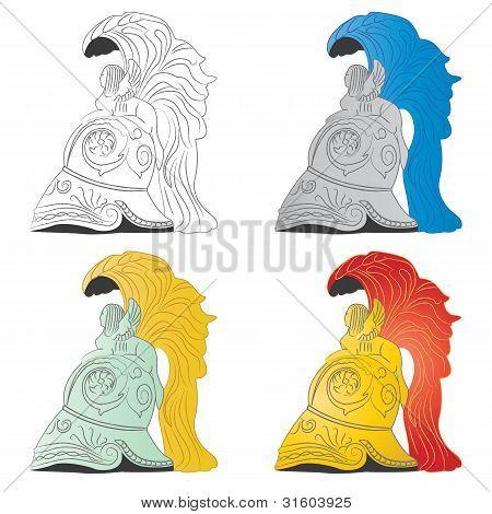 Some Roman Helmets
