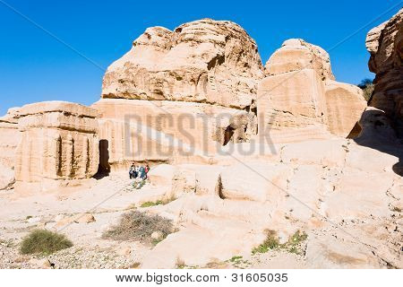 Jinn Blocks And Relief Of Obelisk In Bab As-siq, Petra,