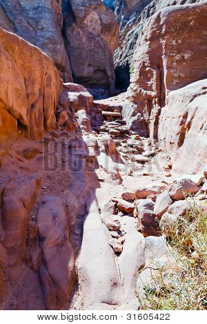 Dry Riverbed Of Wadi Musa In Petra