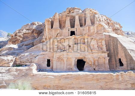 The Obelisk Tomb And Bab As-siq Triclinium In Petra