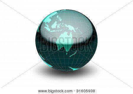 Glossy Green Globe