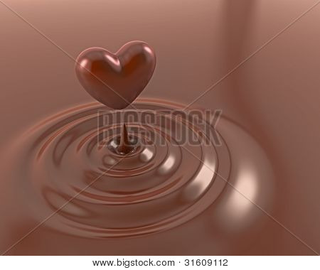 Shiny Chocolate Heart