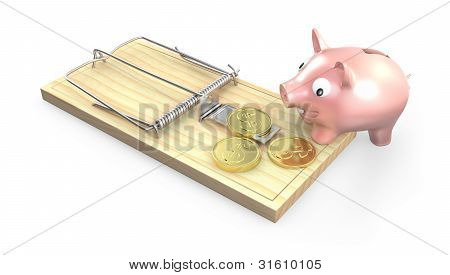 Piggy Bank And Mouse Trap