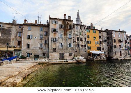 Old City Of Rovinj At Dusk, Croatia
