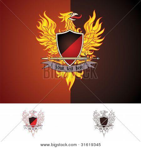 phoenix bird vector