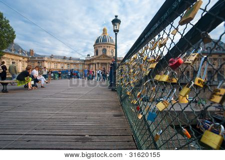 Pont Des Arts Locks Mazarine