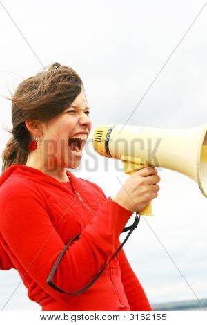 Yelling In A Megaphone