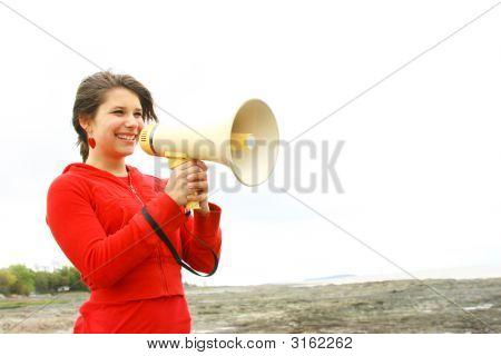 Speaking In A Megaphone