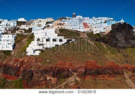 Village of Imerovigli at Santorini island in Greece
