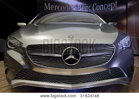 Bucharest Romania - April 8: Bucharest Auto Show (siamb), Mercedes Benz A Class Concept