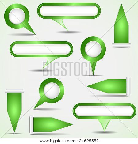Set Of Green Pointers