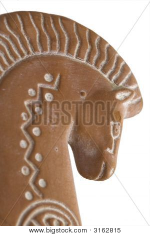 Clay Horse Right Profile