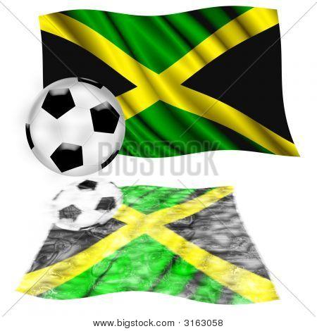 Football Flag Jamaica