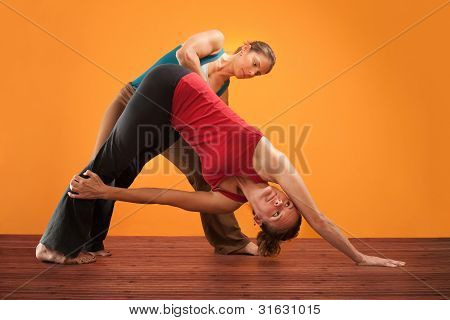 Yogasana Instructor And Student