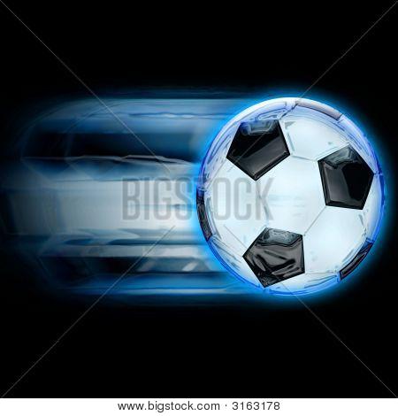 Football Blue Speed