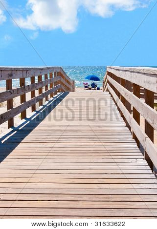 Boardwalk To St. George Beach