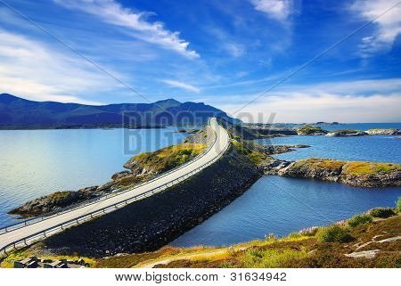 Picturesque Norway landscape. Atlanterhavsvegen