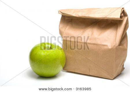 Bag Lunch And An Apple