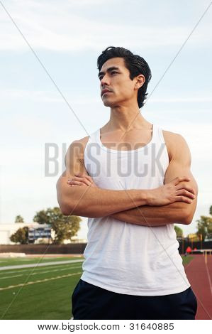 Handsome, Young Latino Athlete