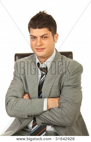 Young Manager On Chair