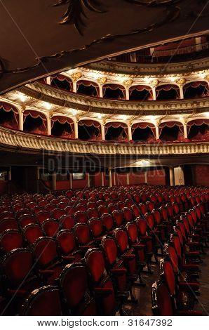 Cluj National Theater interior, Transylvania, Romania