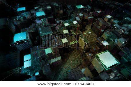 Microchip modern city