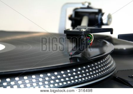 Close Up Of A Turntable