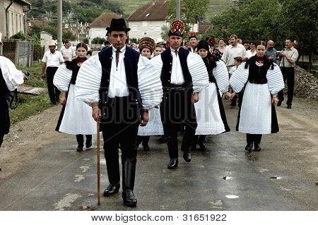 Traditional wedding in Sic, Transylvania, Romania