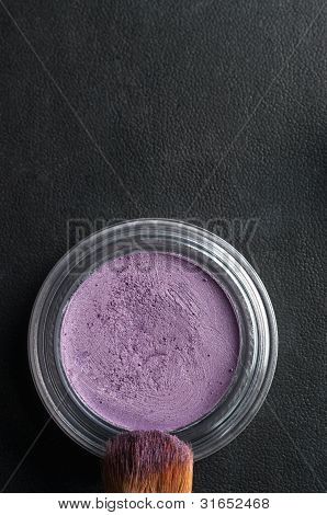 Eye Shadow And Brush Overhead